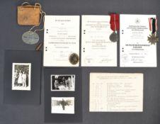 ORIGINAL WWII GERMAN THIRD REICH NAZI MEDAL GROUP & PROVENANCE