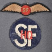 RARE WWII AMERICAN SPECIAL FORCES OSS PATCH & HQ P