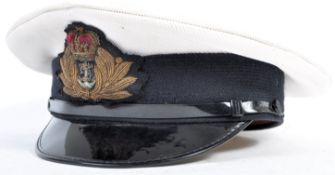 20TH CENTURY BRITISH ROYAL NAVY OFFICER'S PEAKED C