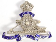 CHARMING WWII ROYAL ARTILLERY SWEETHEART'S BROOCH