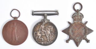 FIRST WORLD WAR MEDAL TRIO - DRIVER IN THE ROYAL ARTILLERY