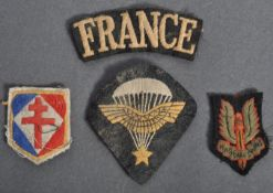 WWII FREE FRENCH BRITISH AIRBORNE UNIFORM PATCHES