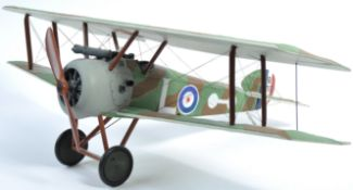LARGE SCALE MODEL OF A FIRST WORLD WAR SOPWITH CAMEL BI-PLANE
