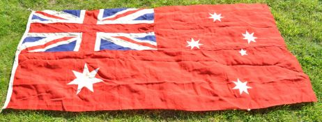 LARGE WWII SECOND WORLD WAR AUSTRALIAN RED ENSIGN