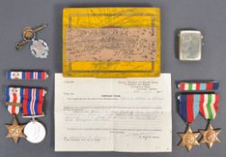 WWII MEDAL GROUP AWARDED TO ONE HAROLD LEWIS