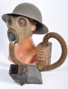 COLLECTION OF ASSORTED WWII UNIFORM ITEMS & TANK PERISCOPE