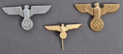 COLLECTION OF WWII SECOND WORLD WAR NAZI EAGLE BADGES