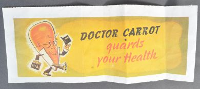 WWII ' DOCTOR CARROT GUARDS YOUR HEALTH SHOP WINDO