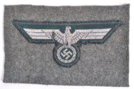 ORIGINAL WWII SECOND WORLD WAR GERMAN UNIFORM BADGE PATCH