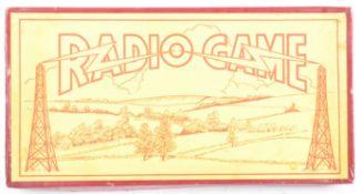 SCARCE PRE-WWII ' RADIO GAME ' BOARD GAME - SHOWIN