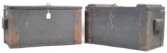 WWI FIRST WORLD WAR OAK AMMUNITION CRATES
