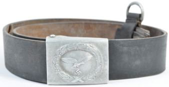 WWII SECOND WORLD WAR NAZI GERMAN LEATHER BELT AND BUCKLE