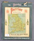 AUTOMOBILIA - RARE 1930'S PERRIER ADVERTISING MAP