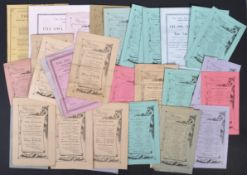 VICTORIAN EPHEMERA COLLECTION - THE OWL CLUB PROGRAMMES