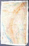 MI9 ESCAPE & EVADE - WWII SILK ESCAPE MAP OF BURMA