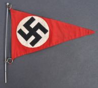 ORIGINAL WWII SECOND WORLD WAR NAZI PARTY CAR PENNANT ON BAR