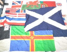 COLLECTION OF ASSORTED VINTAGE FLAGS