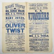 VICTORIAN EPHEMERA COLLECTION - INCREDIBLY RARE OLIVER TWIST POSTER