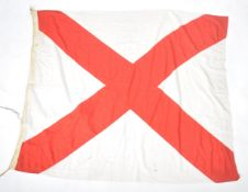 LARGE WWII ROYAL NAVY SHIP'S FLAG - 1943