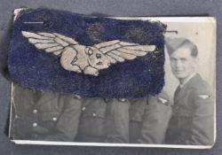 SCARCE WWII GUINEA PIG CLUB UNIFORM PATCH FOR BURN