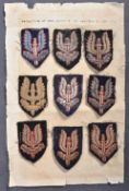 RARE COLLECTION OF WWII SAS CLOTH BERET PATCHES