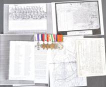 WWII MILITARY CROSS MEDAL GROUP - LIEUTENANT VAN HEERDEN