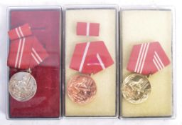 SET OF POST-WWII GERMAN BORDER GUARD MEDALS