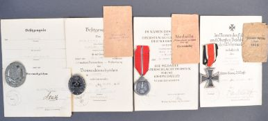 ORIGINAL WWII SECOND WORLD WAR GERMAN MEDAL GROUP