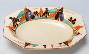 An early 20th Century Clarice Cliff dish of octago
