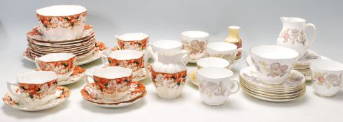 A collection of antique fine bone china tea sets t