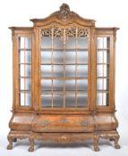 19TH CENTURY DUTCH WALNUT BREAKFRONT VITRINE CABIN