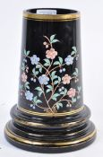 19TH CENTURY FRENCH AESTHETIC MOVEMENT BLACK GLASS