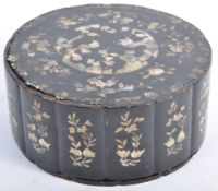 19TH CENTURY CHINESE ANTIQUE BLACK LACQUER JEWELLE