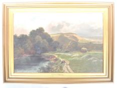 LEOPOLD RIVERS - 19TH CENTURY VICTORIAN OIL ON CAN