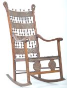 EARLY 20TH CENTURY ANTIQUE MAHOGANY AND LEATHER RO