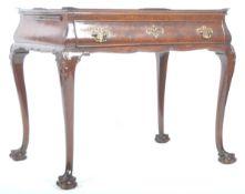 19TH CENTURY DUTCH ANTIQUE WALNUT SILVER TABLE