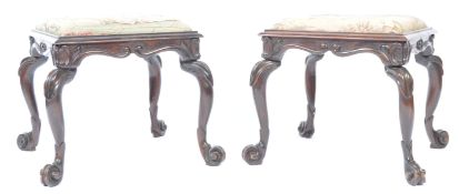 PAIR OF MID 19TH CENTURY SIMULATED ROSEWOOD FOOT S