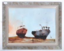 DAVID CHAMBERS - MAROONED FISHING BOATS ON THE JUR