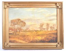 19TH CENTURY OIL ON CANVAS CASTLE PAINTING BY HAMI
