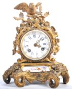 19TH CENTURY ORMOLU MANTLE CLOCK BY C DETOUCHE OF