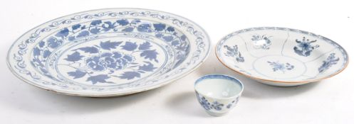 COLLECTION OF 18TH CENTURY CHINESE BLUE AND WHITE