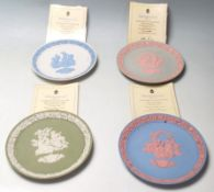 A collection of 20th century Wedgwood Staffordshire Valentine's Day Plates. To include 1985 Plate,