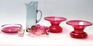 Collection of Retro and Antique Glass to include Czechoslovakian and Cranberry