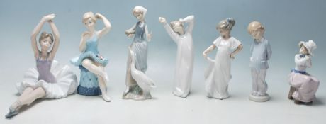 Lladro / Nao - A collection of five late 20th Century Lladro / Nao / Mediflor figurines to include a