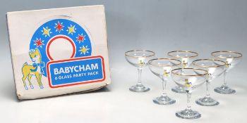 VINTAGE RETRO BABYCHAM GLASSES