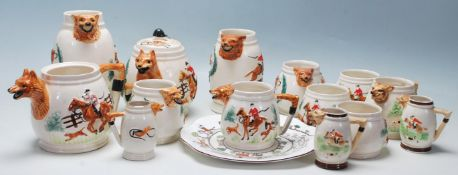 A collection of early 20th Century ceramic tableware to include a fine bone china Crown
