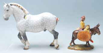 Beswick - A large dapple grey shire horse with a c