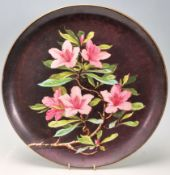 Victorian Aesthetic Movement Floral Wall Charger Plate