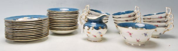 A good 20th century Royal Worcester tea service / part tea service for twelve persons comprising