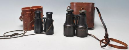 Two vintage 20th Century pairs of binoculars to in